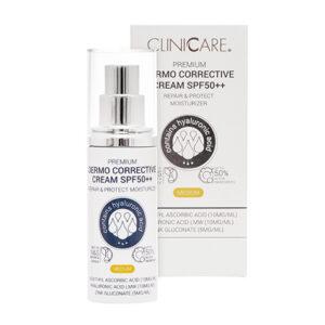 Découvrez la crème dermo-correction aux pigments ajustables SPF 50 30 ML de chez Cliniccare pour une peau parfaitement protégée du soleil été comme hiver.