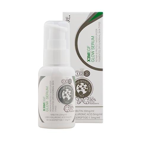 Le sérum anti-pigmentaire Cliniccare est enrichi en facteur de croissance épidermique (EGF) anti-pigmentation pour une peau lumineuse.