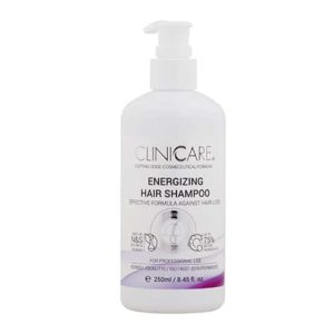 Le shampoing énergisant Cliniccare combine des effets apaisants et antioxydants. Il associe l'effet stimulant de la croissance des cheveux à une hydratation intense, laissant les cheveux doux avec une odeur agréable.